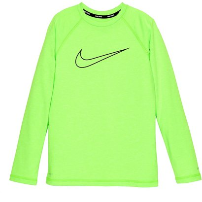 1f8781ae Nike Boys' Swim Heather Swoosh Outline Long Sleeve Hydroguard Rash ...