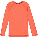 Nike Boys' Swim Heather Swoosh Outline Long Sleeve Hydroguard Rash Guard