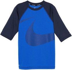 Nike Boys' Swim Half Sleeve Hydroguard Rash Guard