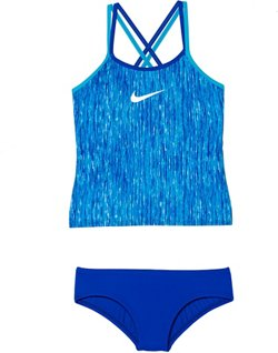 Nike Girls' Spiderback Rush Heather 2-Piece Tankini Swimsuit