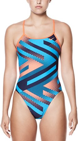 Nike Women's Tidal Riot Cut Out 1-Piece Performance Swimsuit