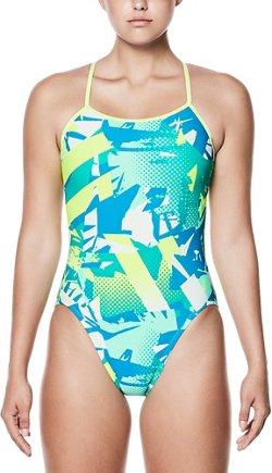 Nike Women's Drift Graffiti Modern Cutout Performance 1-Piece Swimsuit