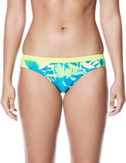 Nike Women's Drift Graffiti Performance Sport Bikini Swim Bottoms