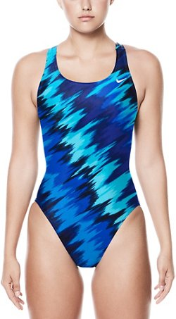 Nike Women's Immiscible Fastback 1-Piece Performance Swimsuit