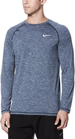 Nike Men's Swim Long Sleeve Hydroguard Rash Guard