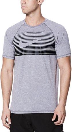 Nike Men's Beam Short Sleeve Hydroguard Rash Guard