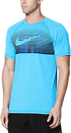 Nike Men's Beam Short Sleeve Hydroguard Rash Guard
