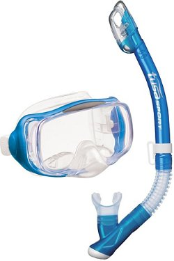 TUSA Adults' Imprex 3-D Dry Mask and Snorkel Set