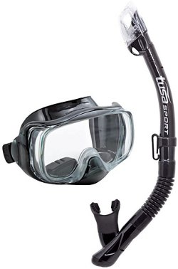 TUSA Adults' Imprex 3-D Purge Sport Mask and Dry Snorkel Set