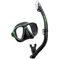 TUSA Adults' Powerview Mask and Dry Snorkel Set