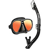 TUSA Adults' Sport Powerview Mirrored Mask and Dry Snorkel Set