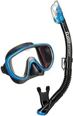 TUSA Adults' Serene Mask and Dry Snorkel Set