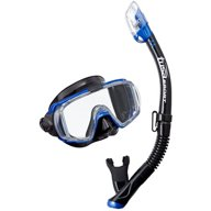 TUSA Adults' Visio Tri-Ex Black Mask and Dry Snorkel Set