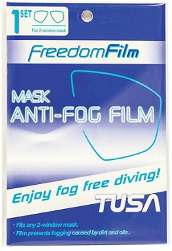TUSA Freedom Film Antifog Film For 2-Window Masks