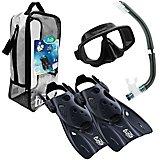 TUSA Sport Platina Mask, Hyperdry Snorkel & Fin Travel Set