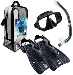 TUSA Adults' Elite Sport Platina Snorkel Travel Set