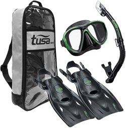 TUSA Adults' Powerview Snorkel Travel Set