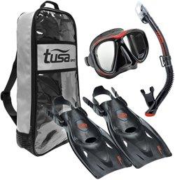 TUSA Adults' Powerview Snorkel Travel Set