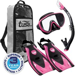 TUSA Adults' Serene Snorkel Travel Set