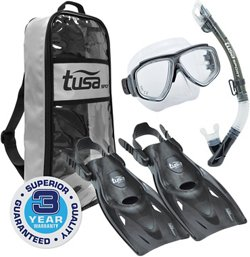 TUSA Adults' Splendive Dry Snorkel Travel Set