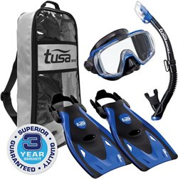 TUSA Adults' Visio Tri-Ex Snorkel Travel Set