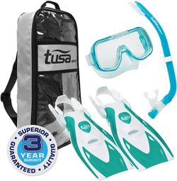 TUSA Youth Mini-Kleio Hyperdry Snorkel Travel Set