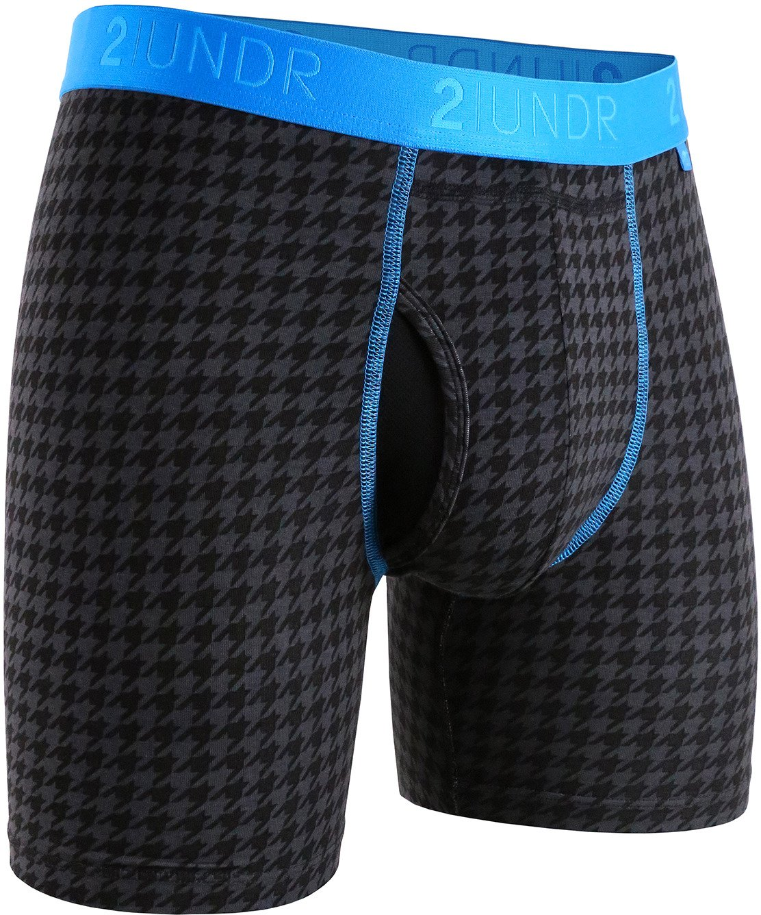 2UNDR Men's Swing Shift 6 in Dog Tooth Boxer Briefs 2-Pack