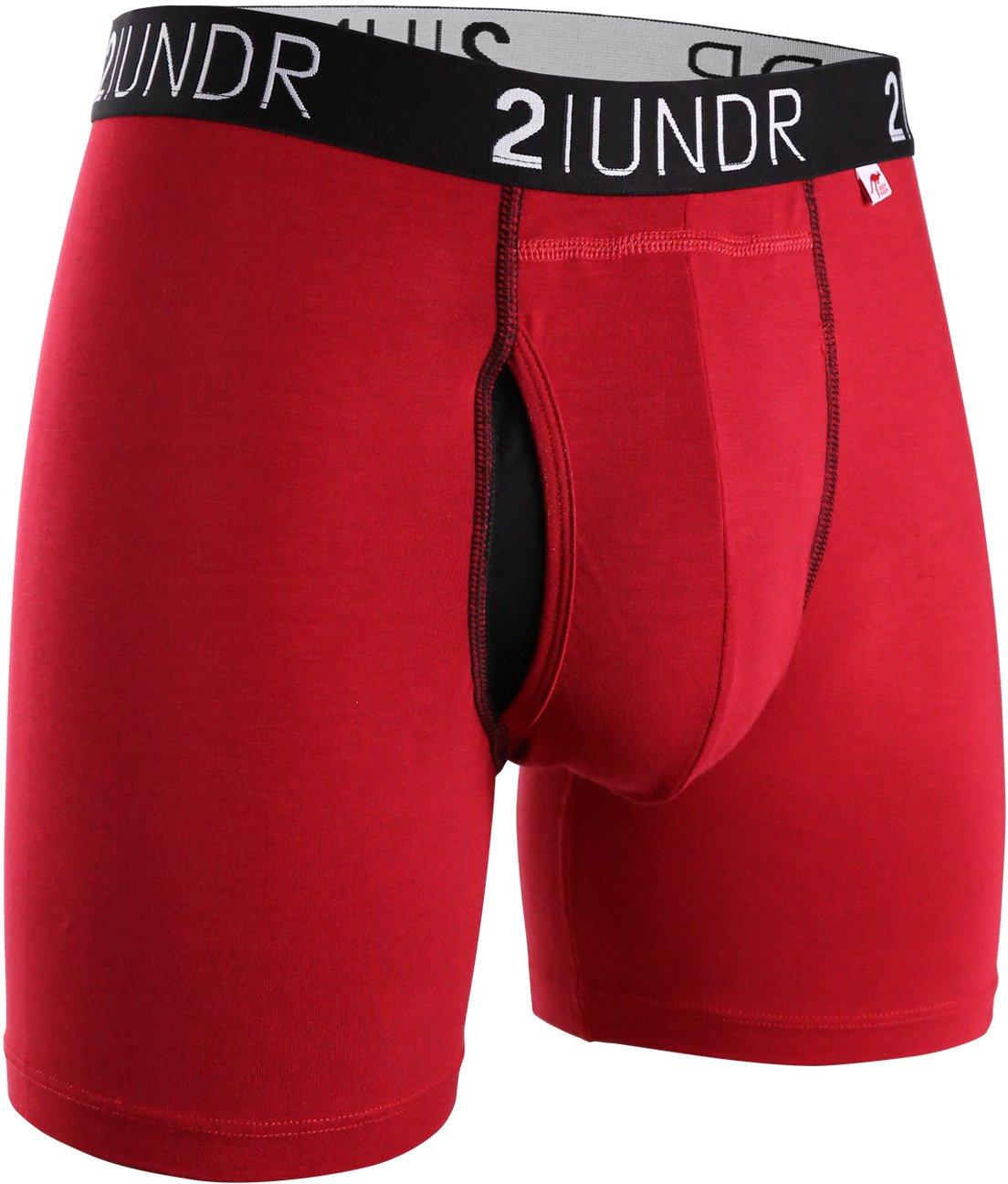 2UNDR Men's Swing Shift Folds of Honor Boxer Briefs 3-Pack