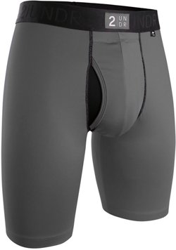 2UNDR Men's Power Shift 9 in Long Leg Boxer Briefs