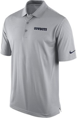 Men's Dallas Cowboys Striped Dri-FIT Polo Shirt
