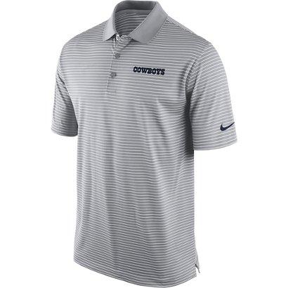 Nike Men S Dallas Cowboys Striped Dri Fit Polo Shirt Academy