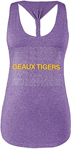 Chicka-d Women's Louisiana State University Braided Tank Top