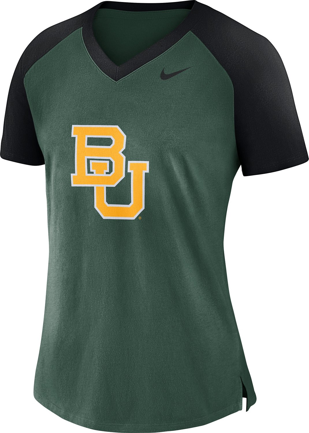 Nike Women's Baylor University Fan V-neck Top