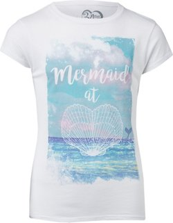 Extreme Concepts Girls' Mermaid at Heart T-shirt