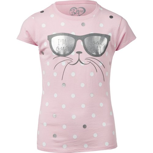 Extreme Concepts Girls' One Cool Cat T-shirt