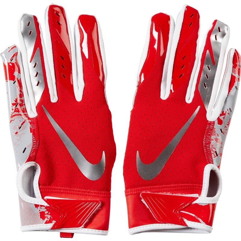 Electricista Inconveniencia Dejar abajo  Nike Men's Vapor Jet 5.0 Football Gloves Red/Silver, Medium - Football  Equipment at Academy Sports   SportSpyder