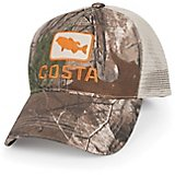 Costa Del Mar Men's XL Bass Camo Trucker Cap