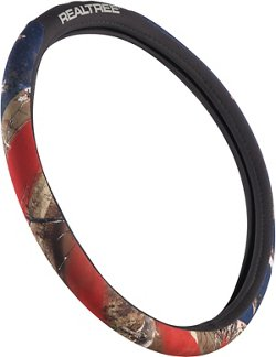 Realtree Bridger Americana Camo Steering Wheel Cover