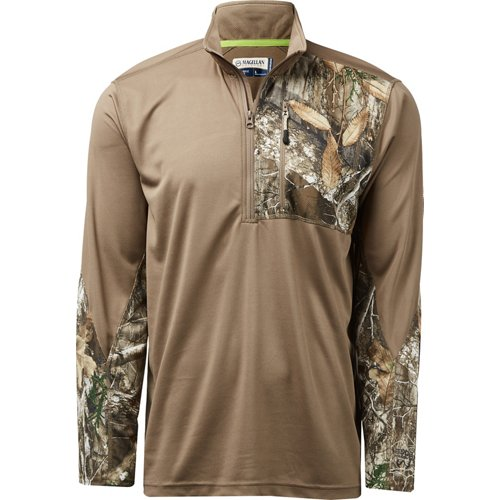 Magellan Outdoors Men's Hunt Gear 1/4 Zip Camo Shirt