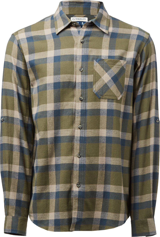 Display product reviews for Magellan Outdoors Men s Hickory Canyon Long  Sleeve Plaid Shirt bd8a62a92b23d