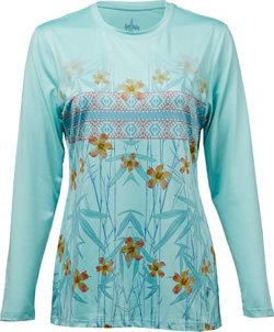 Guy Harvey Women's Hibiscus Tribe Long Sleeve T-shirt