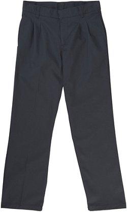 French Toast Husky Boys' Adjustable Waist Pleated Double Knee Pants