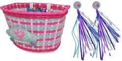 Raskullz Girls' Hearty Gem Bicycle Basket and Streamers