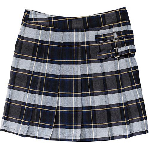 French Toast Girls' Plaid 2-Tab Scooter Skirt