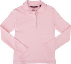 French Toast Girls' Long Sleeve Uniform Interlock Polo Shirt