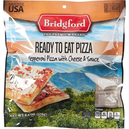 Bridgford Ready-to-Eat Pepperoni and Cheese Pizza
