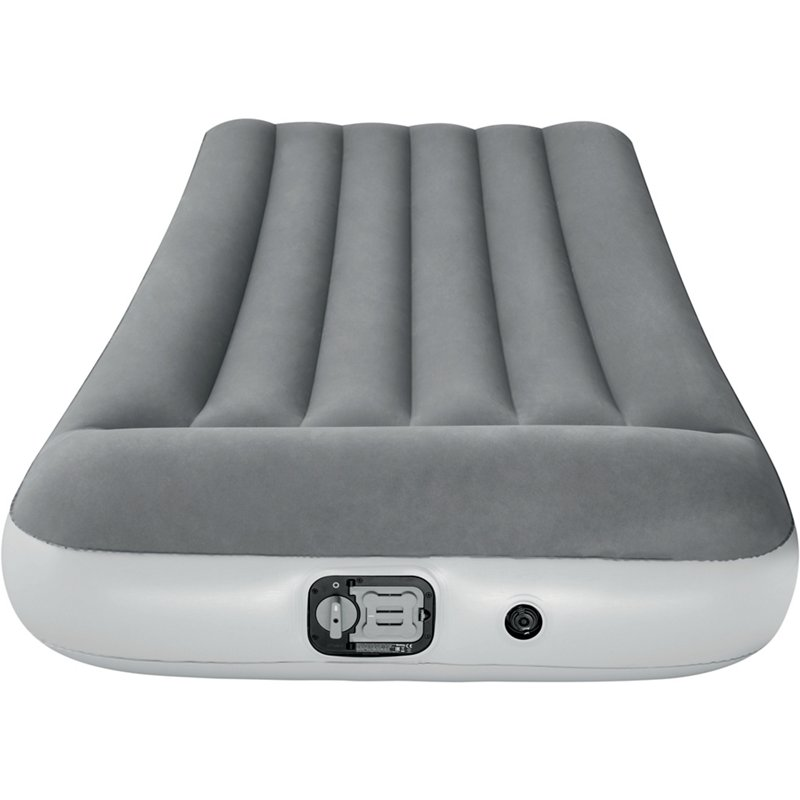 Bestway Twin-Size Airbed with Built-In Pump Gray, Twin Mattress - Air Mattress/Accessories at Academy Sports -  15492