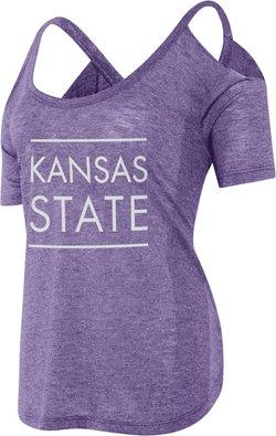 Chicka-d Women's Kansas State University Cold Shoulder T-shirt