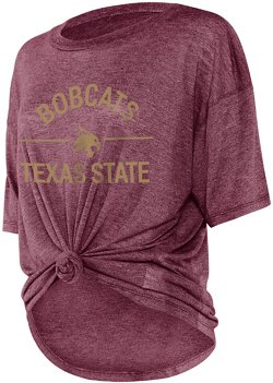Chicka-d Women's Texas State University Boyfriend Knot T-shirt