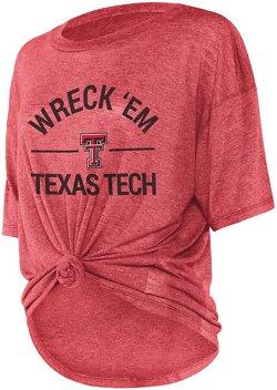 Chicka-d Women's Texas Tech University Boyfriend Knot T-shirt